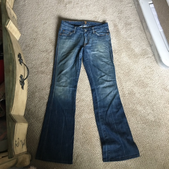 7 For All Mankind Denim - 7 jeans flare style w/rhinestone pockets